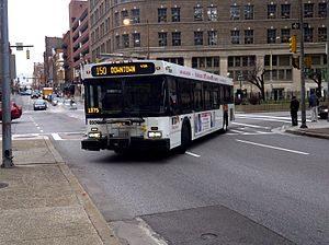 bus making turn