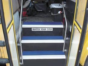 school bus steps