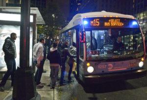 bus during super storm sandy